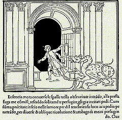 """Il Dragone cui Polifilo sfugge varcando la """"magna porta"""""""